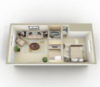 3d One Bedroom Apartment Floor Plans | www.imgkid.com ...