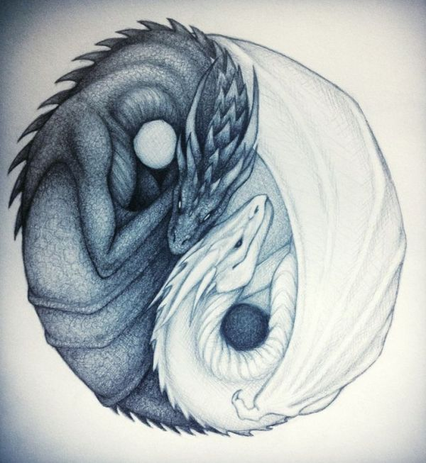 Dragon Yin Yang Yin and Yang Dragons by taylovestwilight