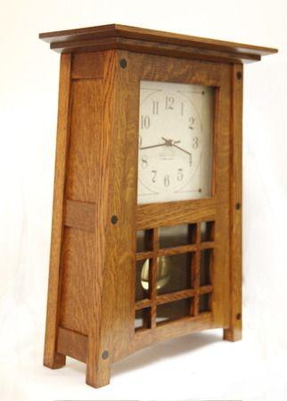 McCoy Mantle Clock 307 BH Arts And Crafts Clocks