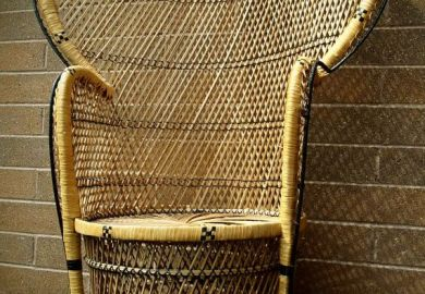 Wicker Fan Chair
