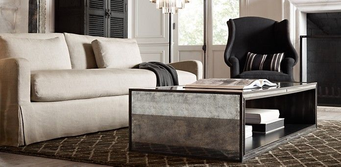 Restoration Hardware Strand Mirrored Tables  Home