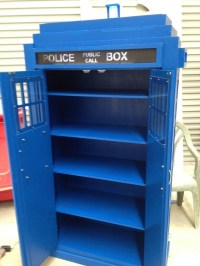 The Police Box Bookcase - Finished   Tardis bookshelf, The ...