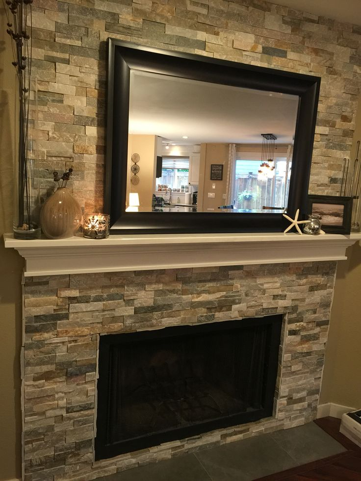 Diy Fireplace Refacing Stone Make An Easy Fireplace Refacing Refaced Fireplace ️ | For The Home | Pinterest | Mantles
