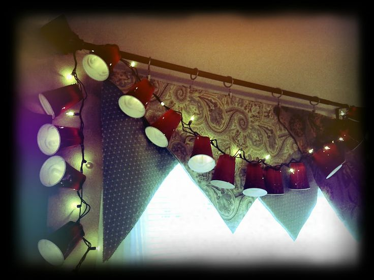 red solo cups string lights  Red solo cup lighted garland