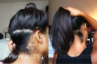 One Month Relaxer Touchup  Before & After Photos