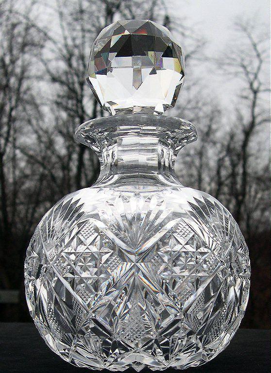 Cologne bottle dorflinger marlboro pattern american brilliant cut glass nr  Bottle Perfume