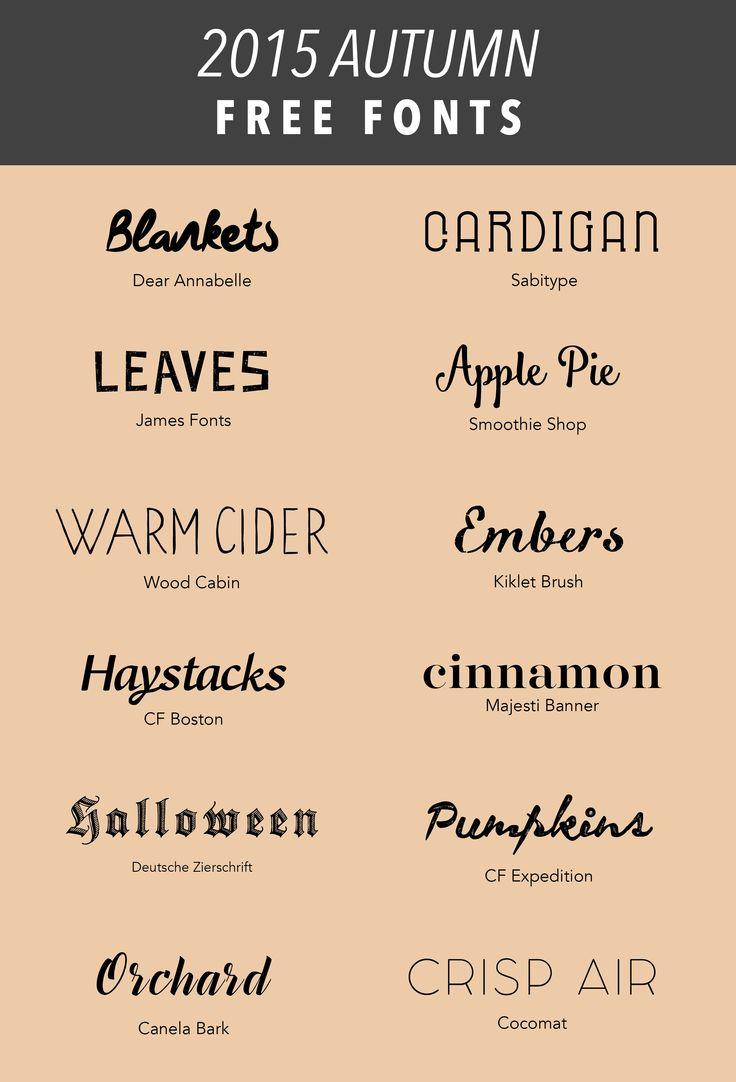 SIMPLE SANCTUARY  Autumn 2015 Free Fonts  httpwwwsimplesanctuaryblogcom  downloads