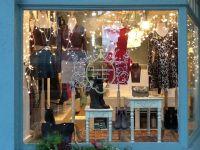 Dmonaco Designs boutique, window display, holiday fashions ...