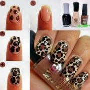 tan brown black leopard print