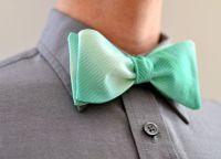 Men's Bow Tie in Mint Ombre - wedding groomsmen ties ...