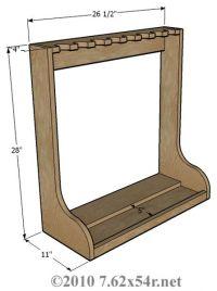 Vertical Wall Gun Rack Plans Plans DIY Free Download ...