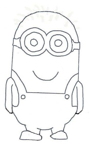 Minions, Minion template and Drawing lessons on Pinterest