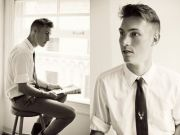 men's hair. 1940s style. dress