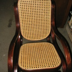 Bentwood Cane Seat Chairs Nursing Rocking Bent Wood Rocker. Chair Has And Wicker Back, Is Ideal For A Small Child. Sold ...
