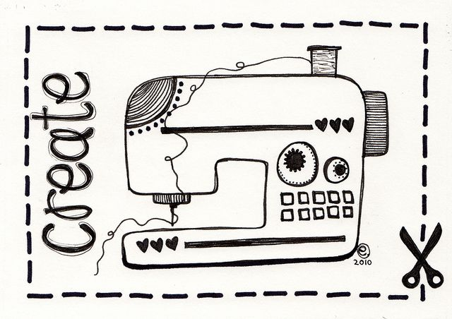 237 best images about Sewing machines illustrations on