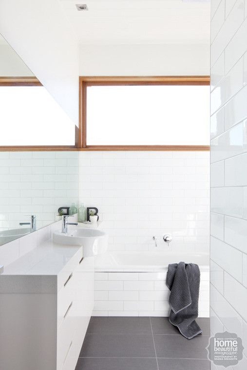 In The Bathroom A Light And Bright Scheme Is Underpinned