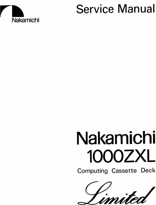 42 best images about Nakamichi Service Manuals on