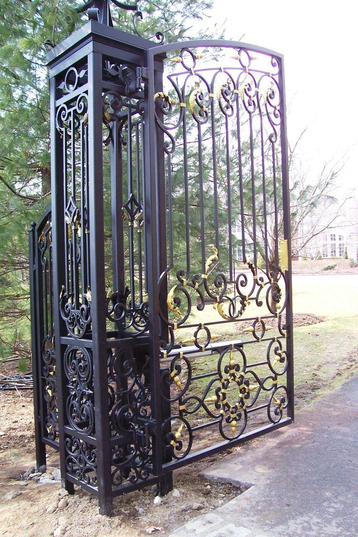 1000 ideas about Wrought Iron Gates on Pinterest  Iron gates Wrought iron and Iron
