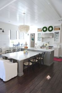 T-shaped Kitchen Island with seating. The center island ...