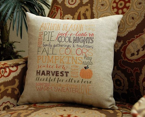 149 best images about Fall Pillows on Pinterest