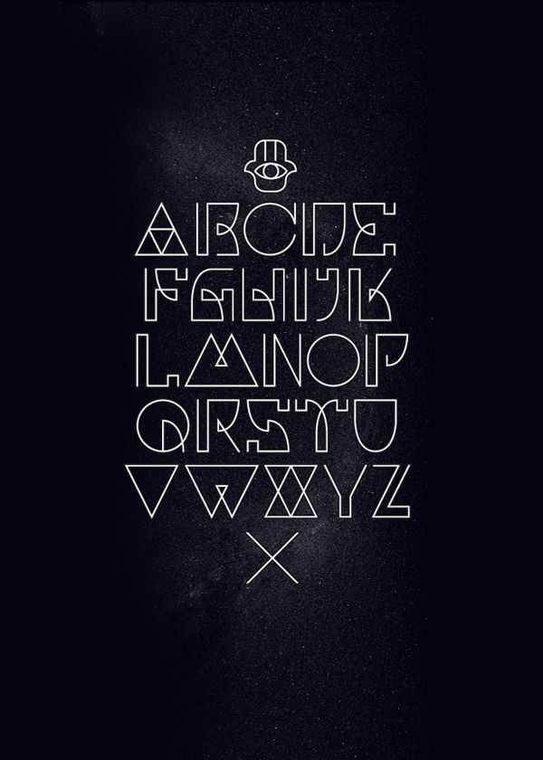 cool fonts to draw on a poster