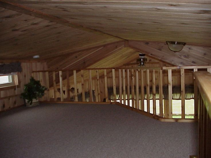 Glittering Log Cabin Loft Railings with Indoor Wooden