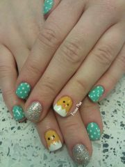 9 simple easter nail art design