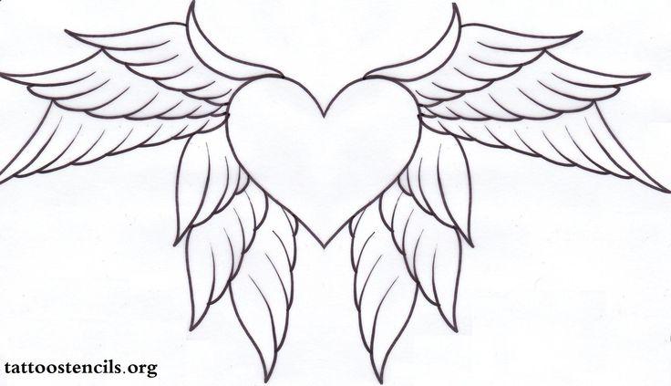 black heart tattoo,heart with wings tattoo,wing tattoo
