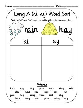 This set of 10 vowel digraph (teams) word sorts are the perfect engaging activity for students learning the different vowel