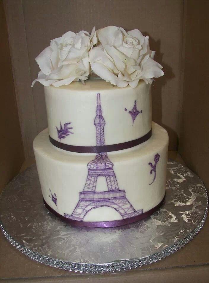 Eiffel Tower Cake Party Ideas Pinterest Paris