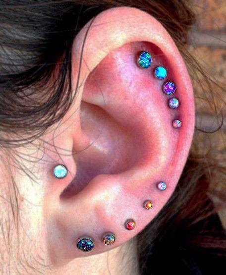 25+ Best Ideas about 3 Ear Piercings on Pinterest