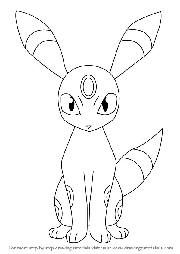Learn How to Draw Umbreon from Pokemon (Pokemon) Step by