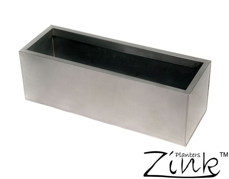 Details About Silver Zinc Trough Planter Garden Plant Pot