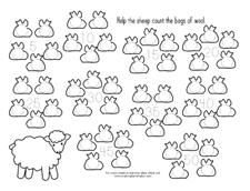 Sheep Count by Five for a Lamb Theme from Making Learning