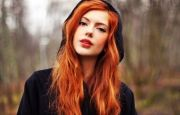 pretty red hair color girl
