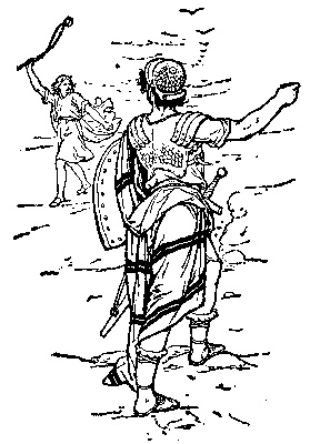 David and goliath, Coloring and Catholic on Pinterest