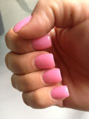 pretty nail color #square#nails#loooove