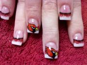 nfl nail art.arizona cardinals