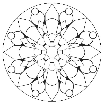 This mandala makes me think of rose windows. http://www
