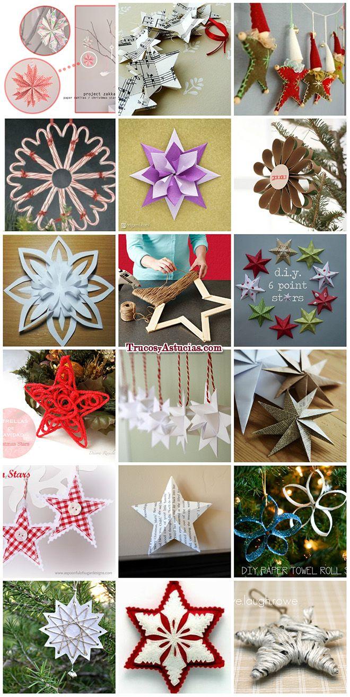 Estrellas de navidad caseras hechas con manualidades