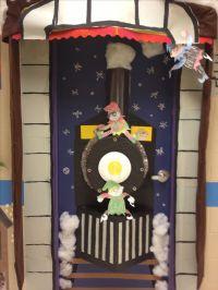 Christmas Door/ kindergarten. Train