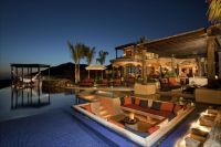 Fire Pit Lounge in Middle of Pool #homes #house #luxury # ...