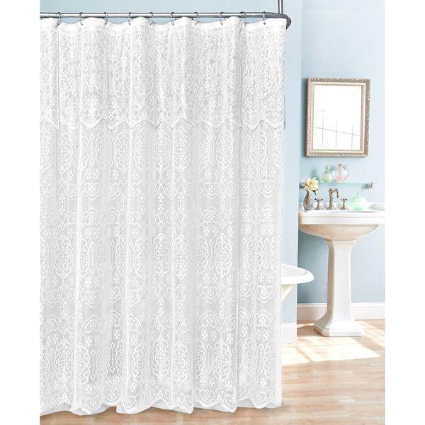 17 Best ideas about Lace Shower Curtains on Pinterest