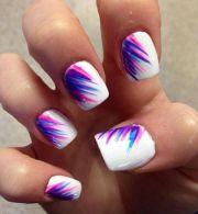 pink purple blue #nails #summer