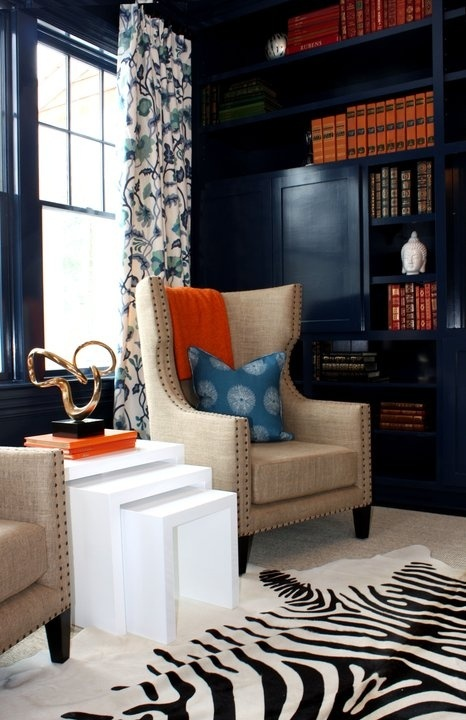 South Hampton Interior Design Navy Painted Built in