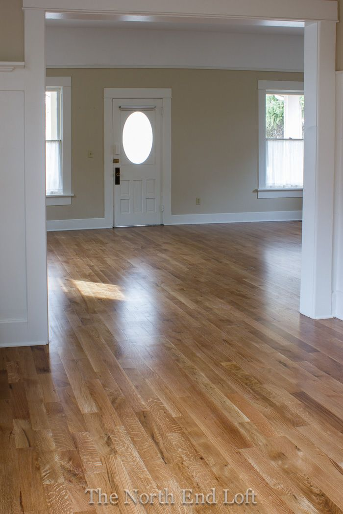 Minwax Special Walnut on White Oak Floors  LOVE how this