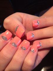 moon glitter nails with gel
