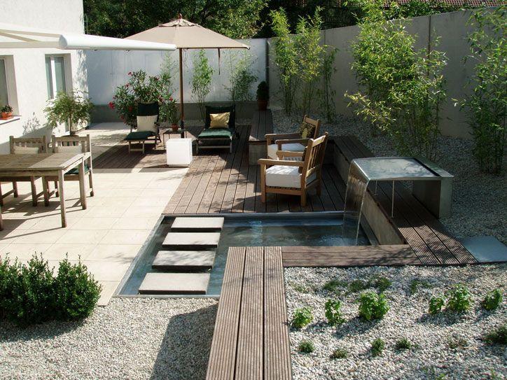 gartengestaltung mit steinen kleiner moderner hinterhof book, Garten und erstellen