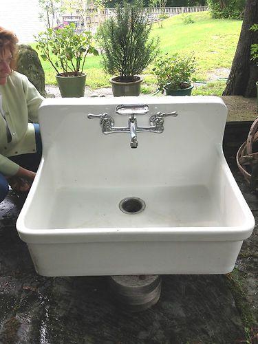 american standard white kitchen faucet knife storage kohler farmhouse, farm house apron style sink, free ...