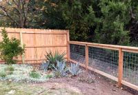 6ft cedar privacy fence to 4ft cattle panel fence. Find ...